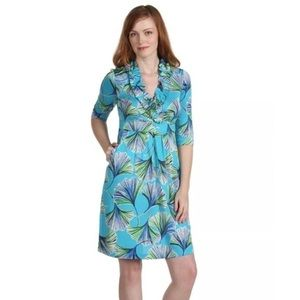 Lilly Pulitzer Blayney Let's Get Ginky Blue Dress